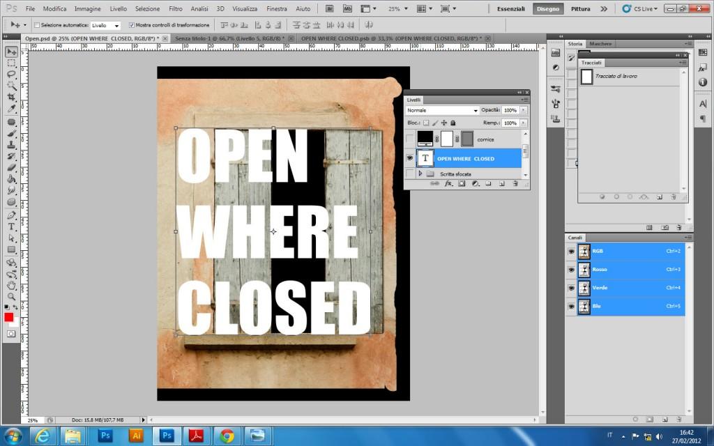 Aprire una finestra - Testo a finestra ...